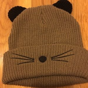 Animal face beanie